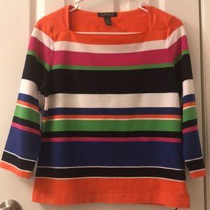 5/$25 Lauren, Ralph Lauren long sleeve T, size L